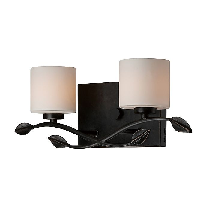 Alternate image 1 for Quoizel® Erin 2-Light LED Bath Fixture in Imperial Bronze with Opal Etched Glass Shade