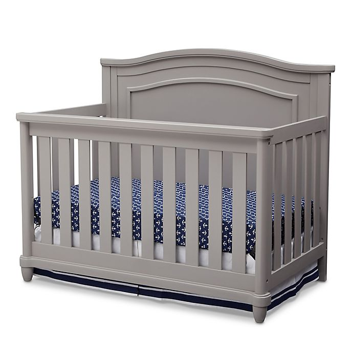 Alternate image 1 for Simmons Kids® Barrington™ 4-in1 Convertible Crib in Grey