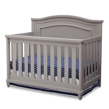 Simmons Kids 174 Barrington 4 In1 Convertible Crib In Grey