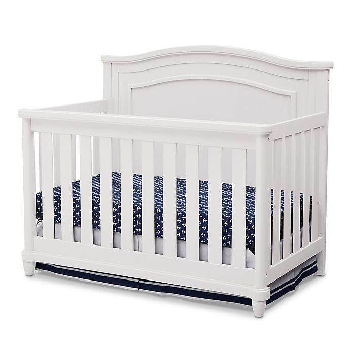 Alternate image 1 for Simmons Kids® Barrington 4-in1 Convertible Crib in Bianca