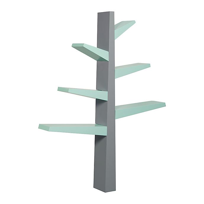 Alternate image 1 for Babyletto Poplar Spruce Tree Bookcase in Grey/Mint