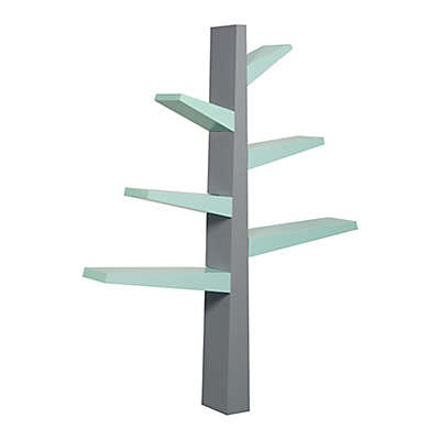 Babyletto Poplar Spruce Tree Bookcase in Grey/Mint