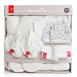 goumi Newborn 3-Piece Bundle in Forest Friends Grey