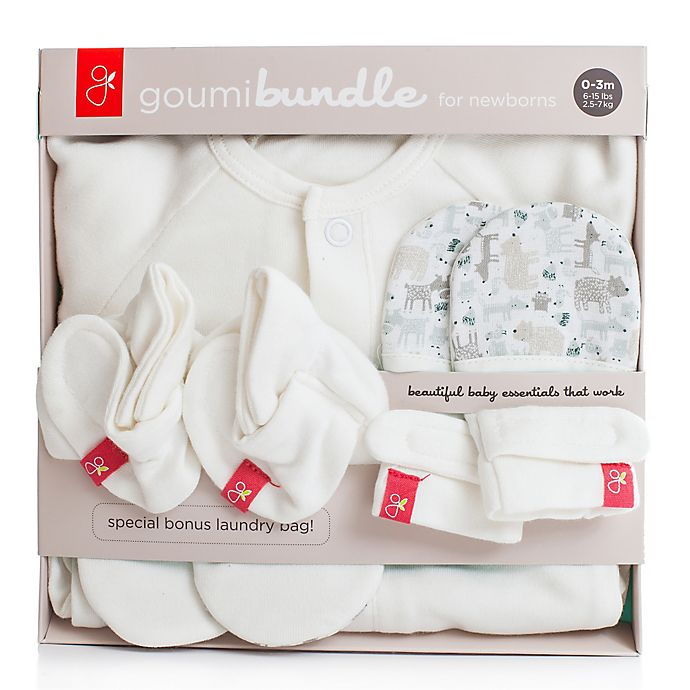 Alternate image 1 for goumi Newborn 3-Piece Bundle in Forest Friends Grey