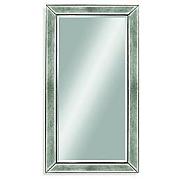 Bassett Mirror Company 36-Inch x 48-Inch Beaded Mirror in Silver Leaf