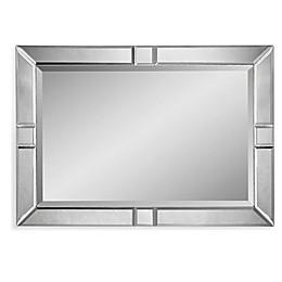 Bassett Mirror Company 42-Inch x 30-Inch Barbarella Mirror in Antique Silver
