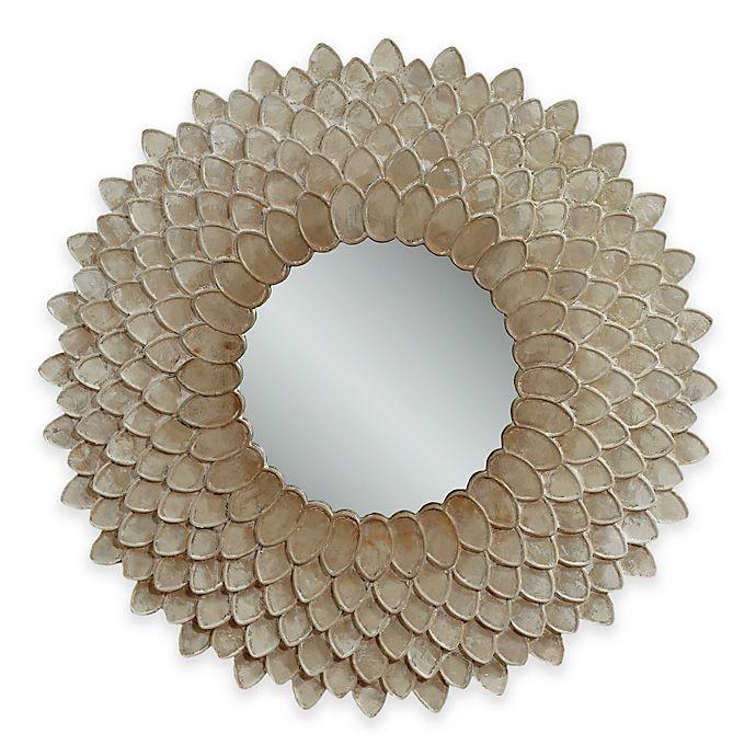 Alternate image 1 for Bassett™ Chloe Wall Mirror in Pearl