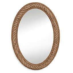 Bassett Mirror Company 30-inch x 41-inch Rope Wall Mirror in Jute