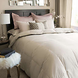 Nikki Chu ISRA White Down Comforter in Clay