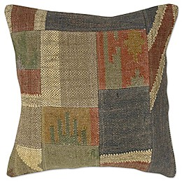Patchwork Square Throw Pillow