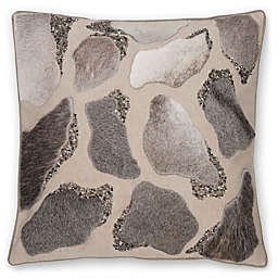 Aura Pebble Hair on Hide 20-Inch Square Throw Pillow in Natural