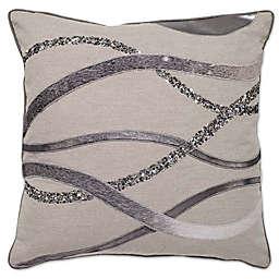 Aura Square Throw Pillow in Wheat