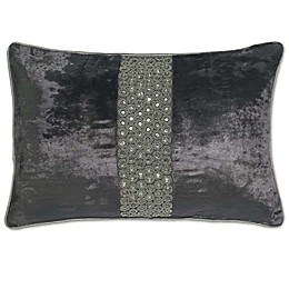 Aura Rectangle Throw Pillow in Pewter
