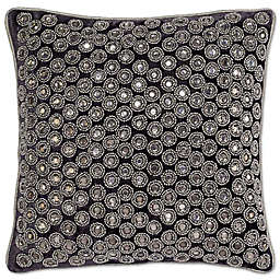 Aura Square Throw Pillow in Pewter