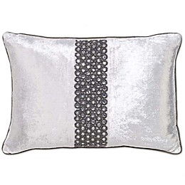 Aura Rectangle Throw Pillow in Ivory