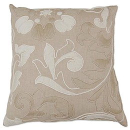 Aura Nature Hand Embroidered Square Throw Pillow