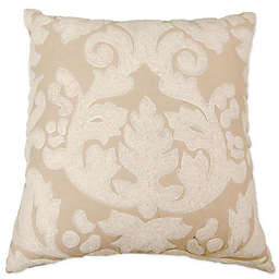 Aura Square Throw Pillow in Natural