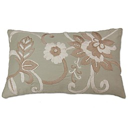 Linen Rectangle Throw Pillow in Beige
