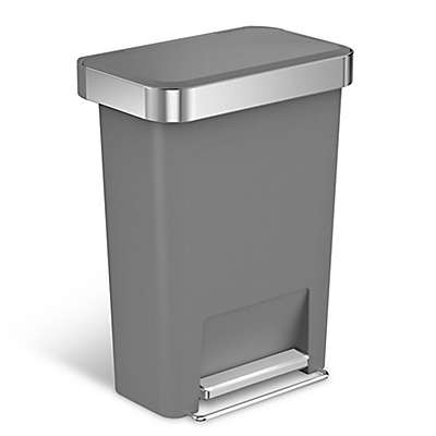 simplehuman® 45-Liter Plastic Rectangular Step Trash Can with Liner Pocket
