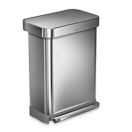 simplehuman® 55-Liter Rectangular Step Trash Can with Liner Pocket