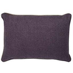Aura Basket Weave Oblong Throw Pillow in Plum
