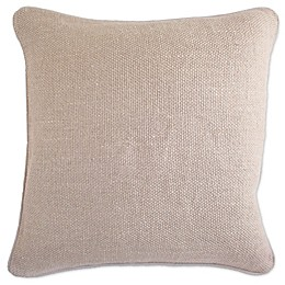 Aura Basket Weave Square Throw Pillow