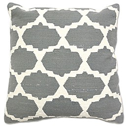 Aura Cotton Woven Foil Square Throw Pillow