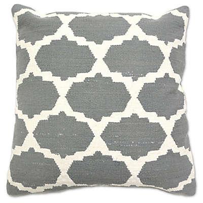 Aura Cotton Woven Foil 20-Inch Square Throw Pillow
