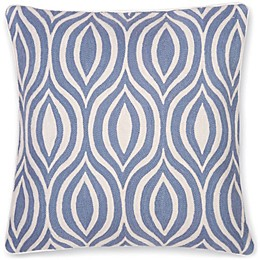 Aura Hand Embroidered 20-Inch Throw Pillow in Peacock Blue