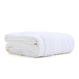 Berkshire Blanket Sweaterknit Reversible Faux Fur Tipped Throw Blanket