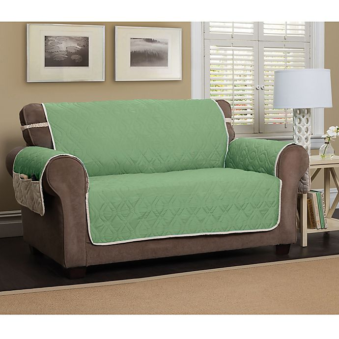Alternate image 1 for 5 Star Extra Large Sofa Protector in Green/Ivory