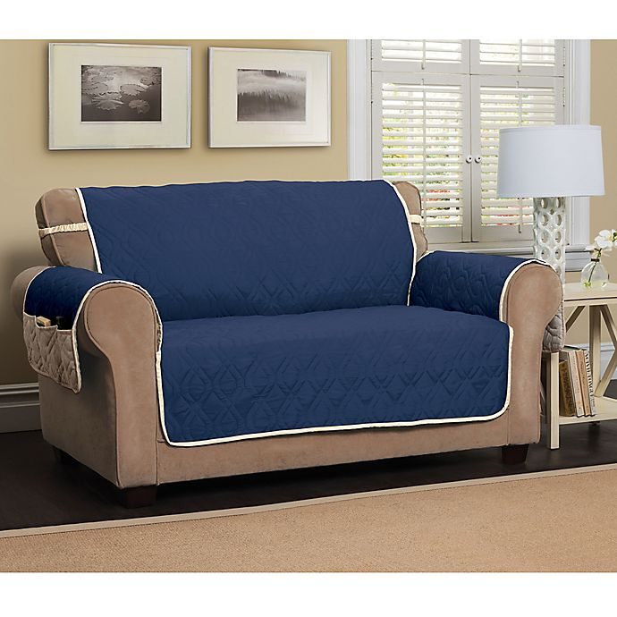 Alternate image 1 for 5 Star Extra Large Sofa Protector in Navy/Ivory