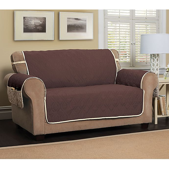 Alternate image 1 for 5 Star Extra Large Sofa Protector in Chocolate/Ivory
