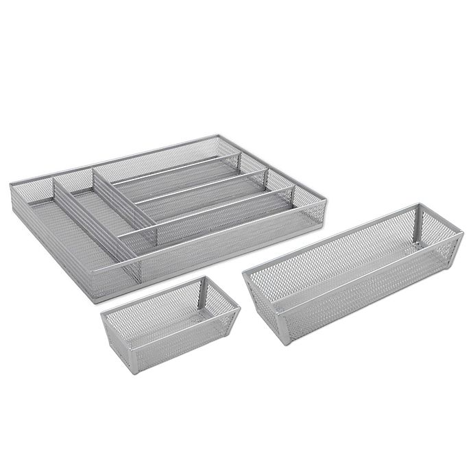Alternate image 1 for ORG Powder-Coated Mesh Drawer Organizer Collection