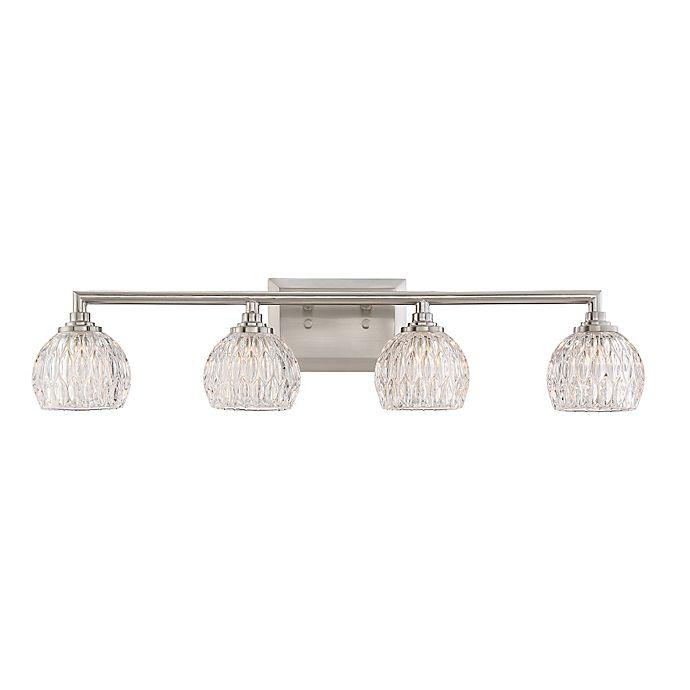 Alternate image 1 for Quoizel® Platinum Serena 4-Light LED Bath Fixture in Brushed Nickel