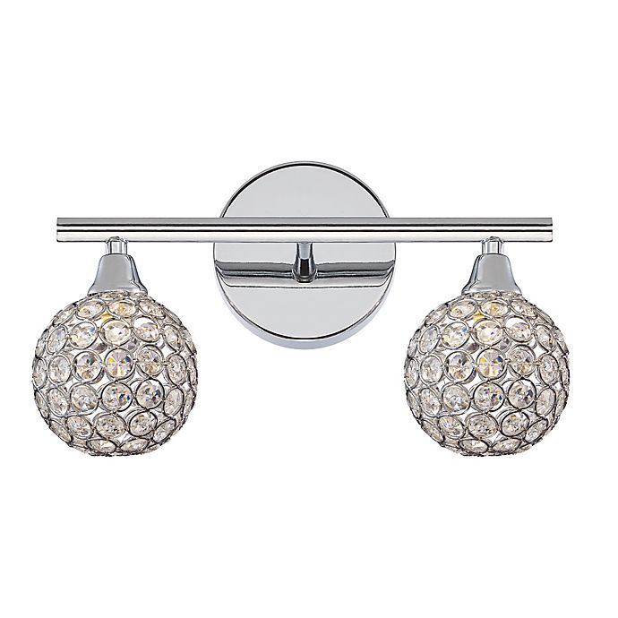 Alternate image 1 for Quoizel® Platinum Shimmer 2-Light LED Vanity Light in Polished Chrome