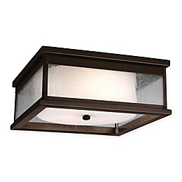 Fiess® Pediment 3-Light Flush Mount Outdoor Light