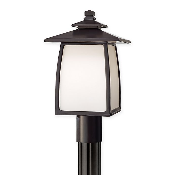 Alternate image 1 for Feiss® Wright House 1-Light Outdoor Post Lights in Oil Rubbed Bronze