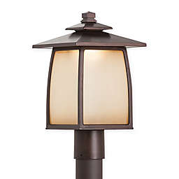 Feiss® Wright House 1-Light Outdoor Post Lights in Sorrel Brown