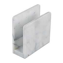 Artisanal Kitchen Supply® Marble Napkin Holder in White
