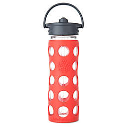 Lifefactory® Glass Water Bottle with Straw Cap