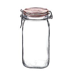 Bormioli Rocco Fido Hermetic 33.75 oz. Jar with Copper Lid