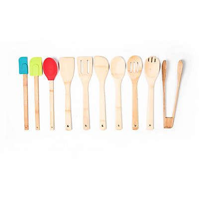 10-Piece Bamboo and Silicone Tool Set