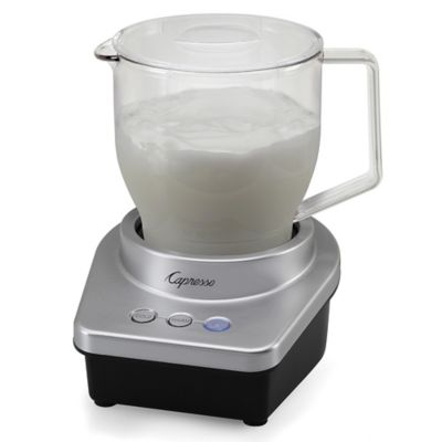 Capresso Froth Max Automatic Milk Frother In Silver Black Bed