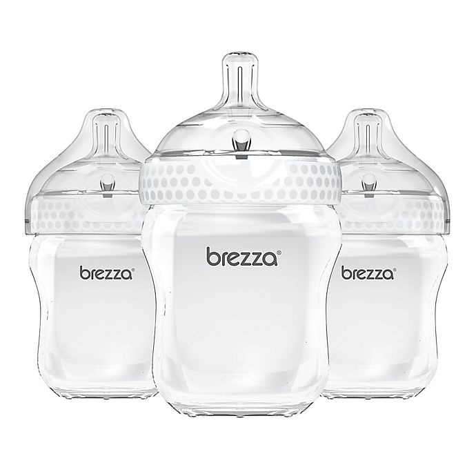 Alternate image 1 for Baby Brezza® 3-Pack Natural Bottles in White
