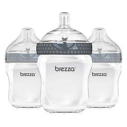 Baby Brezza® 3-Pack Natural Bottles in Grey