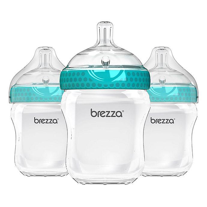Alternate image 1 for Baby Brezza® 3-Pack Natural Bottles in Blue