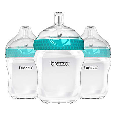 Baby Brezza® 3-Pack Natural Bottles in Blue