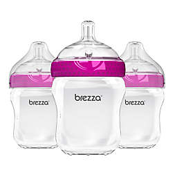 Baby Brezza® 3-Pack Natural Bottles in Pink