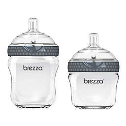 Baby Brezza® Glass Natural Bottle in Grey